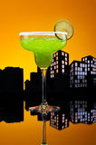 Metropolis green Margarita cocktail Royalty Free Stock Image