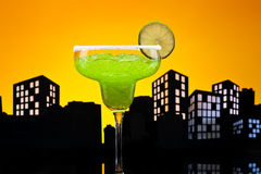 Metropolis green Margarita cocktail Stock Photos
