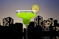 Metropolis green Margarita cocktail Royalty Free Stock Photos