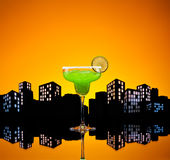 Metropolis green Margarita cocktail Royalty Free Stock Photos