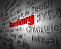 Metropolis Hamburg. Typographical demonstration of big cities - hamburg  3d Stock Photography