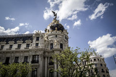 Metropolis, Image of the city of Madrid, its characteristic arch Royalty Free Stock Photos