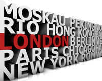 Metropolis London Royalty Free Stock Photography