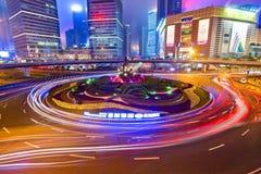 Metropolis night lights Royalty Free Stock Image
