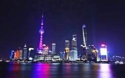 Metropolis Night. This is the modern Chinese metropolis Shanghai at night Stock Image