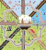 Metropolis och omnejd Arkivbild