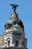 Metropolis palace in madrid. In spain Royalty Free Stock Photo