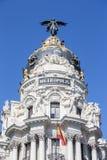 Metropolis palace in madrid Stock Image