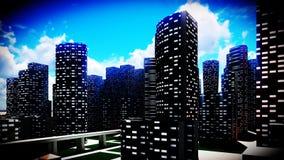 Metropolis - panoramic view Stock Image