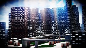 Metropolis - panoramic view Royalty Free Stock Images