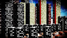 Metropolis - panoramic view Stock Photos