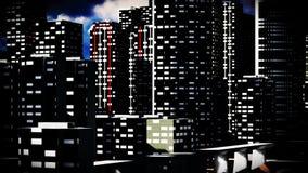 Metropolis - panoramic view Royalty Free Stock Photo
