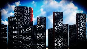 Metropolis - panoramic view Stock Photography