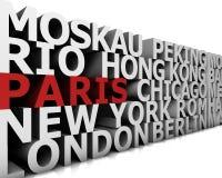 Metropolis Paris. Typographical demonstration of big cities - paris  3d Royalty Free Stock Image