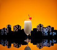 Metropolis Pina colada cocktail Stock Images
