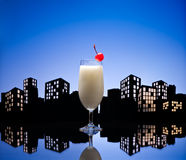 Metropolis Pina colada cocktail Stock Image