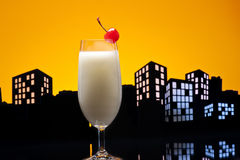 Metropolis Pina colada cocktail Stock Photo