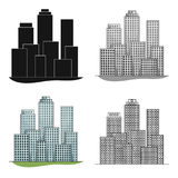 Metropolis.Realtor single icon in cartoon style vector symbol stock illustration web. Stock Images