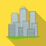 Metropolis.Realtor single icon in flat style vector symbol stock illustration web. Metropolis.Realtor single icon in flat style vector symbol stock illustration Stock Images
