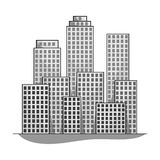Metropolis.Realtor single icon in monochrome style vector symbol stock illustration web. Metropolis.Realtor single icon in monochrome style vector symbol stock Royalty Free Stock Photography