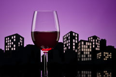 Metropolis Red Wine Royalty Free Stock Images