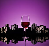 Metropolis Red Wine Stock Photography