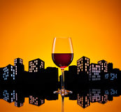Metropolis Red Wine Royalty Free Stock Photos