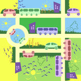 Metropolis seamless pattern textile design. Vector illustration vector illustration