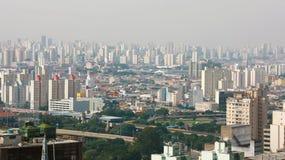 Metropolis Skyline Sao Paulo, Brazil.  royalty free stock photos