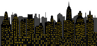 Metropolis - skyscrapers. Image of the panorama of modern town - skyscrapers - high-clearance buildings - metropolis of recent time Royalty Free Stock Photo