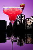Metropolis strawberry Margarita cocktail Stock Photo