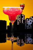 Metropolis strawberry Margarita cocktail Stock Photos