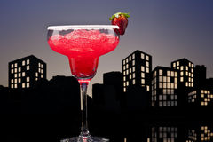 Metropolis strawberry Margarita cocktail Stock Image