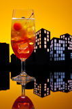 Metropolis Tequila Sunrise cocktail Royalty Free Stock Photography