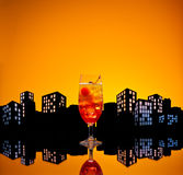 Metropolis Tequila Sunrise cocktail Royalty Free Stock Photo