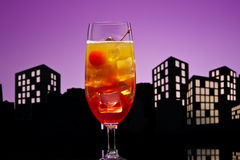 Metropolis Tequila Sunrise cocktail Stock Image