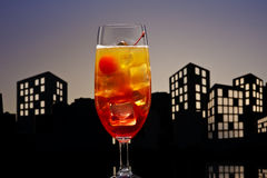 Metropolis Tequila Sunrise cocktail Royalty Free Stock Photos
