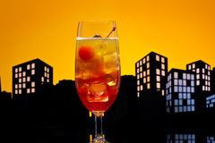 Metropolis Tequila Sunrise cocktail Royalty Free Stock Images