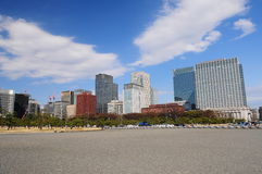 Metropolis Tokyo. With vast empty land against blue sky and cloud Royalty Free Stock Images