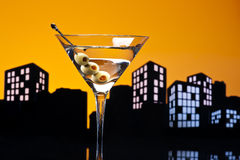 Metropolis Vodka Martini Royalty Free Stock Photography