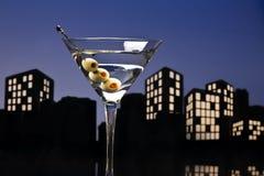 Metropolisvodka Martini Royaltyfri Foto