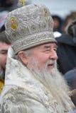Metropolita Irenaeus uświęcać wodę Zdjęcie Stock