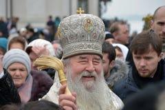 Metropolita Irenaeus uświęcać wodę Obrazy Stock