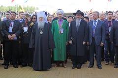 Metropolita Juvenal, Ildar Safiullin i Berel Lazar, Fotografia Royalty Free