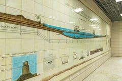 Metropolitaans Istanboel: posten en metro's Turkije Royalty-vrije Stock Afbeeldingen