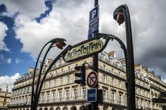 Metropolitaans van Parijs Stock Foto