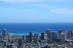 Metropolitaanse cityscape van Honolulu Stock Foto's