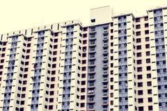 Metropolitaanse flatgebouwenstad scape royalty-vrije stock afbeelding