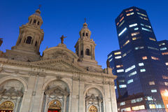 Metropolitaanse Kathedraal in Santiago Stock Fotografie
