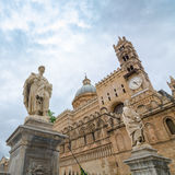 Metropolitaanse Kathedraal van de Veronderstelling van Maagdelijke Mary in Palermo royalty-vrije stock foto's